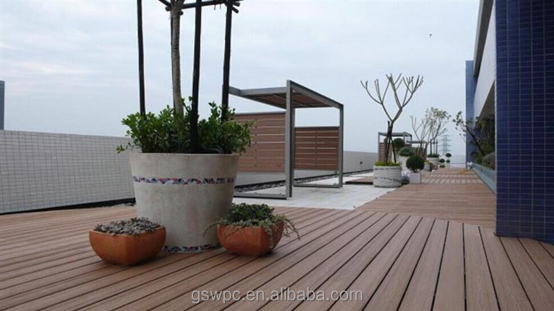 wood plastic composite deck board size with wpc CE certificate