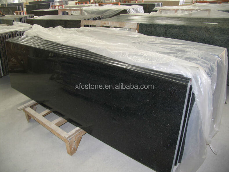 High Quality Star Galaxy Granite Countertop Black Galaxy