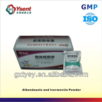 Albendazole and Ivermectin Powder natural antibacterial agents