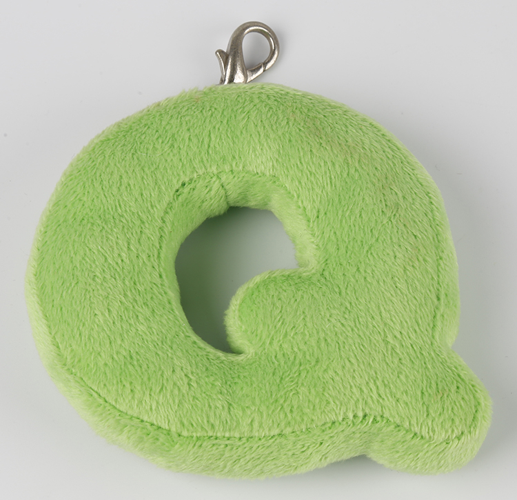 Wholesale soft plush letters alphabet custom plush keychain