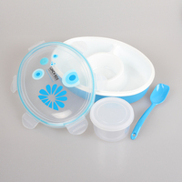 YOOYEE Plastic airtight lunch box with compartment