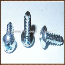 White phillips head RoHS zinc plated roofing screws