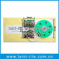 Greeting card music ic chip