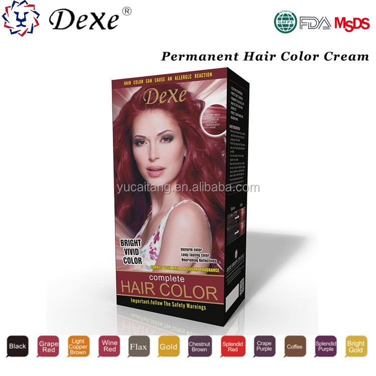 DEXE yellow hair color cream with good price for dye hair by yourself at home