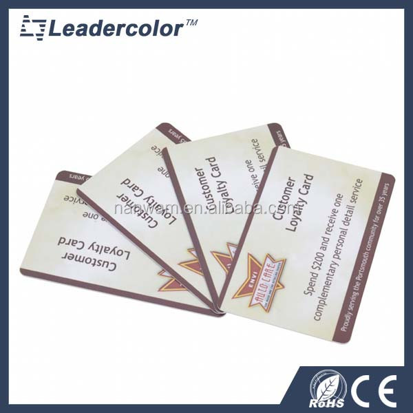 Membership plastic blank PVC RFID cards factory direct sale