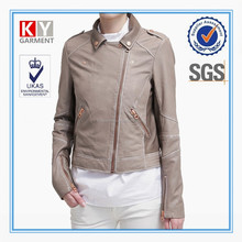 newest style spring suede pu leather jacket women