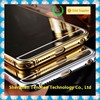 Hight quality For iPhone Mirror cover Metal gold bumper case for iPhone 6 / 6 plus