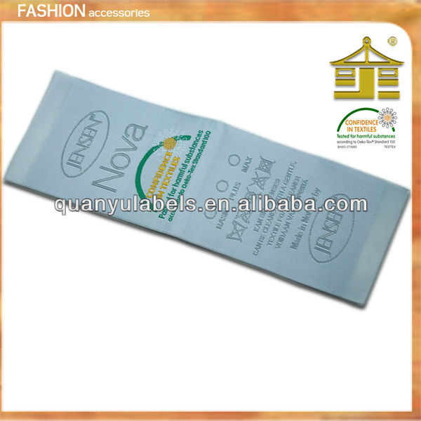 chinese wholesale any size finely processed clothing labels for clothing in gangzhou