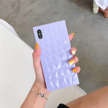 3D diamond pattern square candy tpu phone cover for iphone x xs XR ,for iphone x phone case cover
