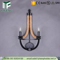 American style lamps hemp rope vintage chandelier pendants lights