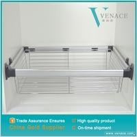 Low price cabinet stainless steel wire magic corner drawer kitchen basket