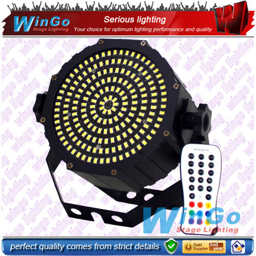 Flat LED par can 189pcs Slim DJ Disco Stage Effect Strobe Party Light infared ray LED mini par light
