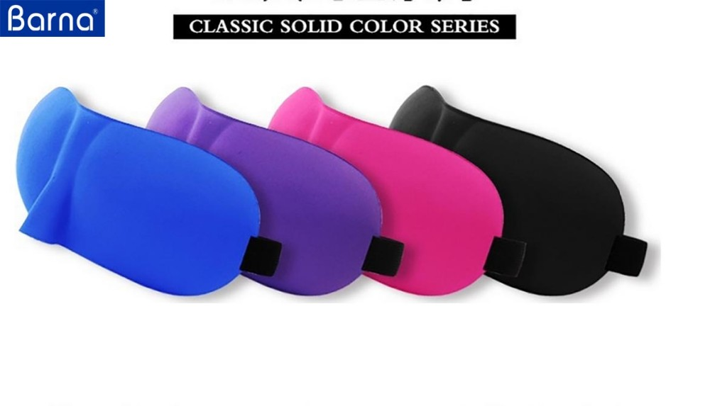 logo print 3D travel sleep eye mask for kids adults