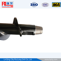 42mm flight with 16-18mm body in large stock drill pipe drill rod