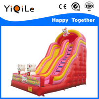 2016 the lovely cats inflatable playground on sale with kids inflatable slide