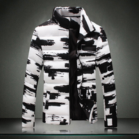 2016 Casual Winter Gift Plus size Wadded Jacket Male Cotton-padded Stand collar Decorative Coat Men's Clothing Big size Tops