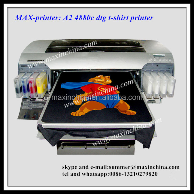 MAX high quality dx5 A2 dtg printer t shirt printer machine