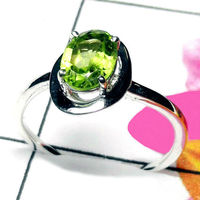 Natural AAA Peridot Handcrafted Designer 925 Sterling Silver Ring