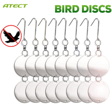 Bird Repellent Discs, Reflective Repeller Hanging Device To Keep Birds Away , Dual-sided Deterrent Reflective Discs