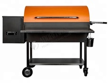 Wood Pellet BBQ grill with stainless steel front shelf