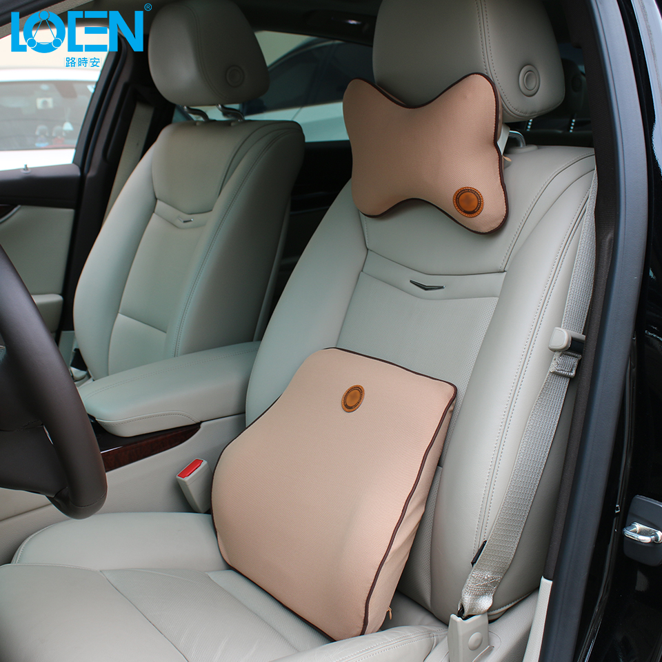 Waist back car seat back support multi-color cushion set