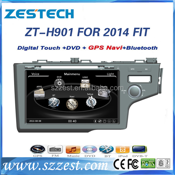 2015 Hot selling double din car stereo for Honda Fit 2014 car dvd player with gps