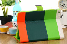 For iPad 2 3 4 Case Flip Cover Stripe Wallet Leather Case Pouch Rainbow Case