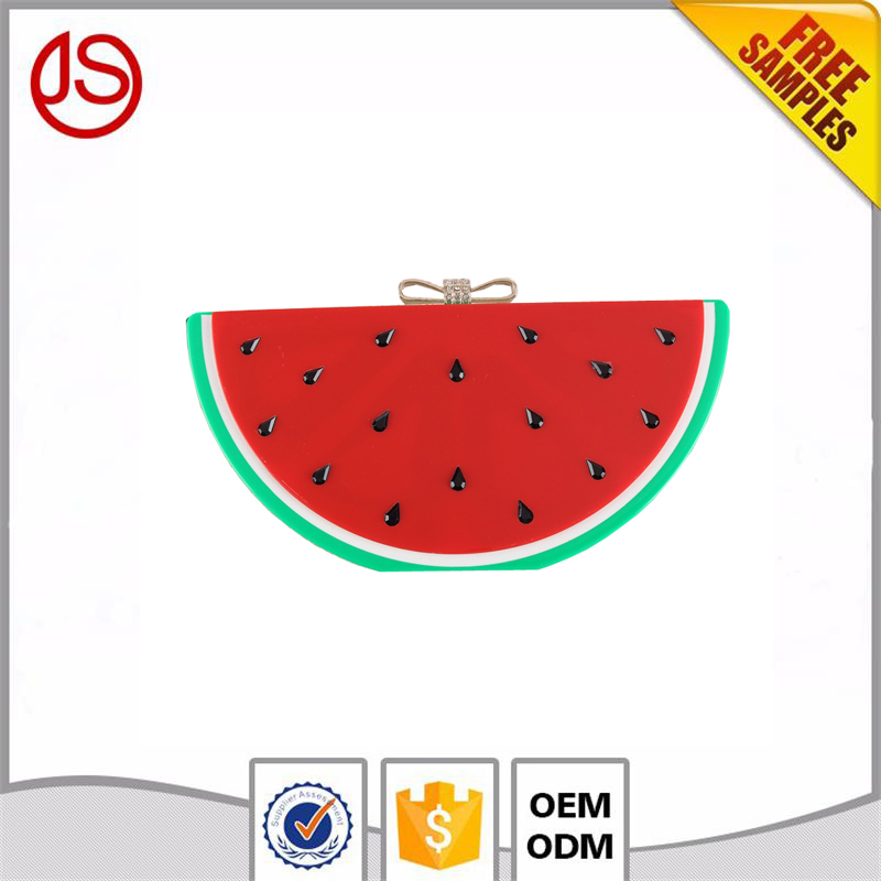 Watermelon shape women handbags 2017 new models wedding clutch bag acrylic clutches for woman