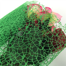 Wholesale Plastic Mesh Big Spider Mesh Fabric Roll Ribbon Flower Wrapping Material Cheap