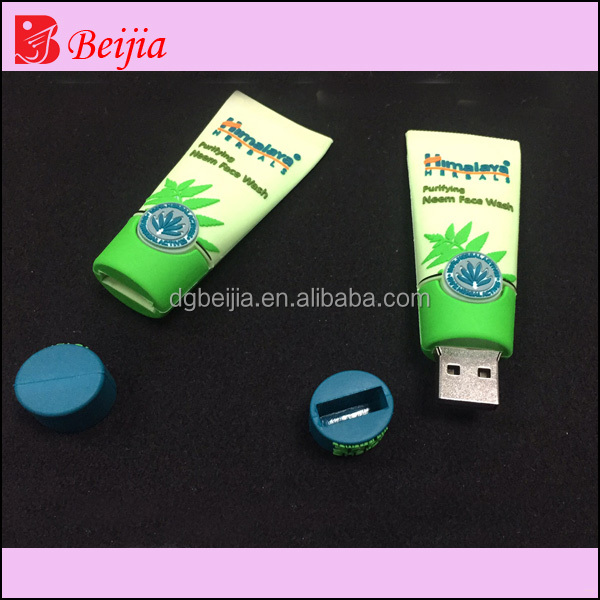 Custom special whitening face wash shape usb flash drive for promotion