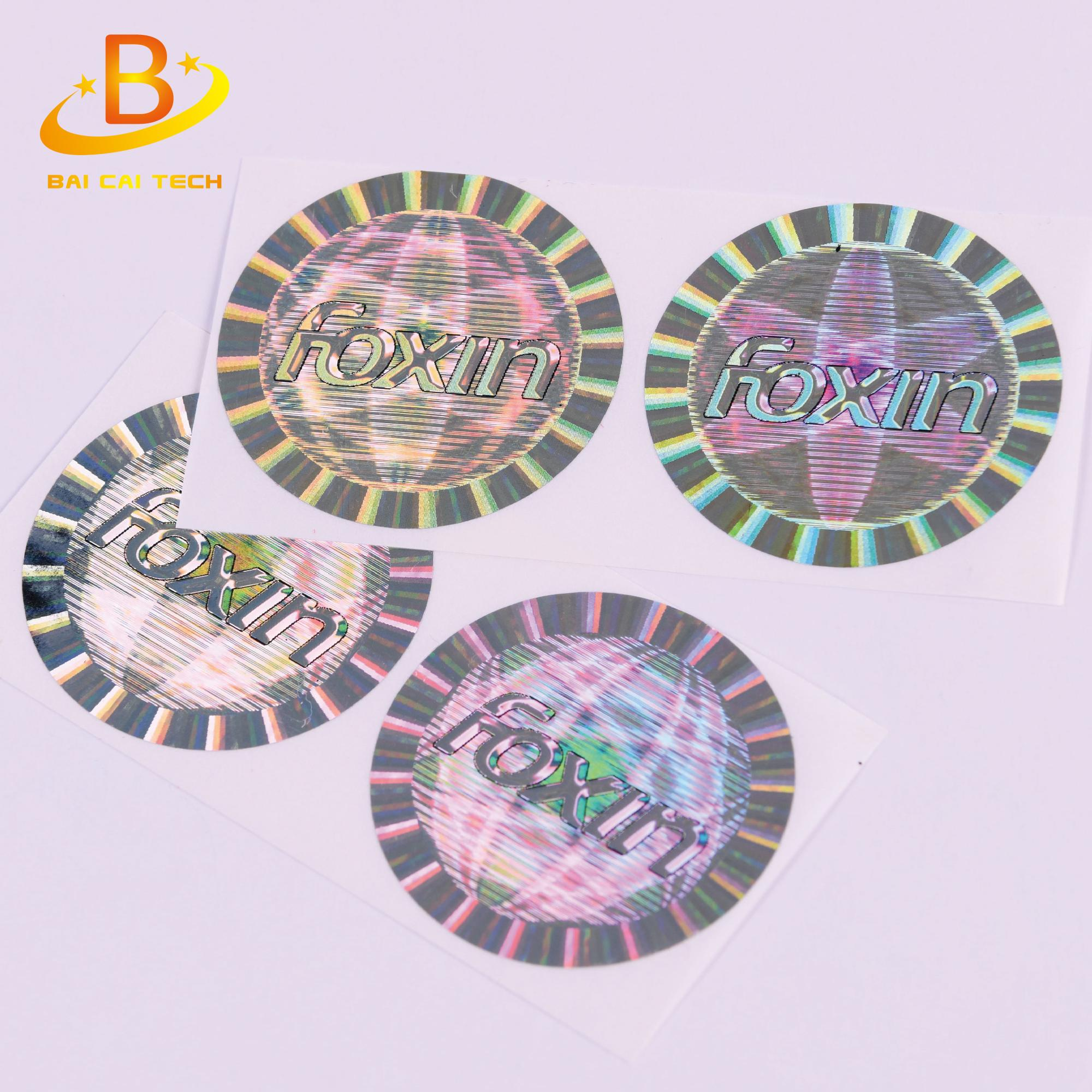 Customized made adhesive security certificate hologram sticker