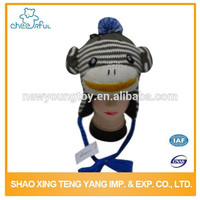 2015 kids crochet knit winter cartoon caps and hats with strings and earflap
