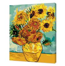 Sunflower Best Pictures DIY Digital Oil Painting Paint By Numbers Birthday Unique Gift