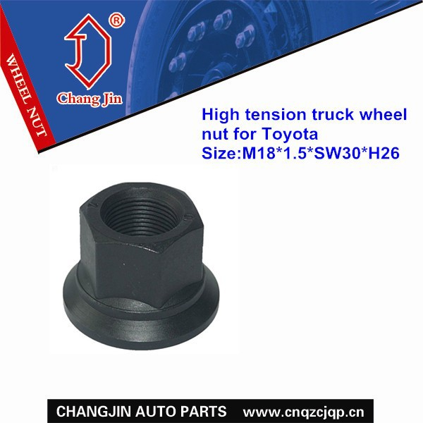 High tension truck wheel nut for Toyota