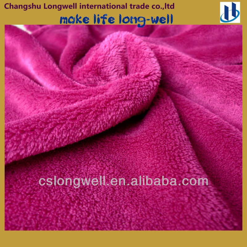 100% mircrofiber high pile coral fleece Blanket