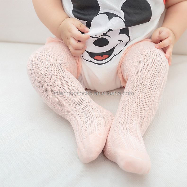 Hot sell fashion stockings infants toddlers pure cotton knee high baby socks