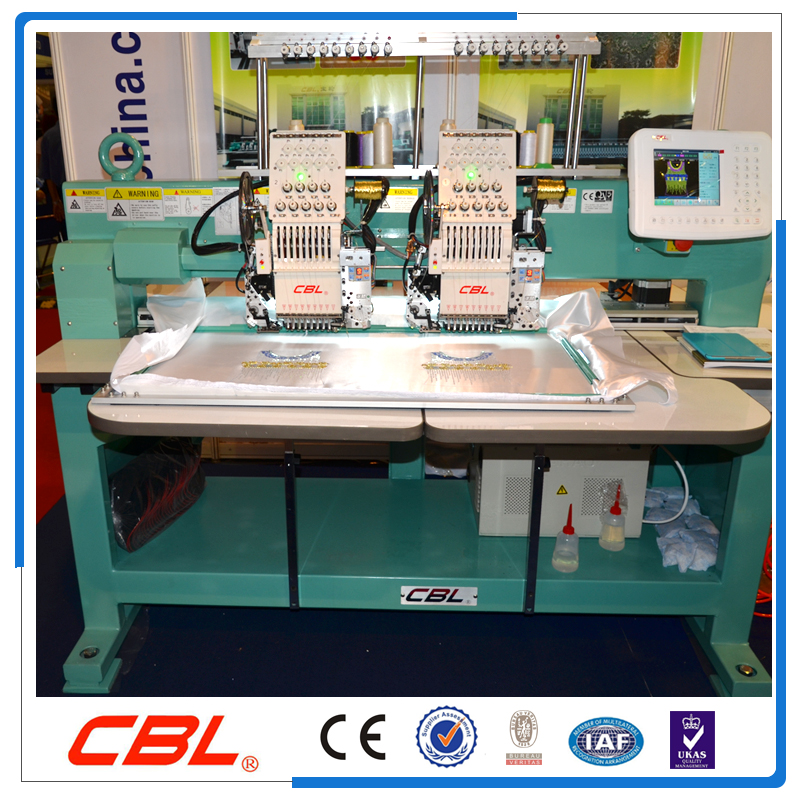 New condition cap and T/shirt embroidery machine with sequin and easy cording device