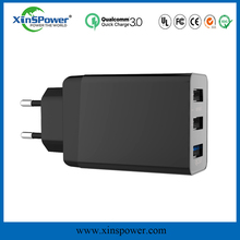 ROHS authentication passed travel QC3.0 Charger adapter,multi usb charger