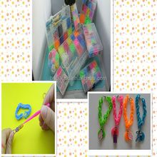 1200pcs loom bands1 pcs tool 48 pcs S clips 2014 Hot Fashion DIY Kids Kit Rubber bands Bracelet silicone loom band