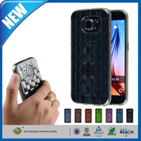 C&T Invisible Finger Strap Grip tpu stand kickstand case for samsung galaxy s6