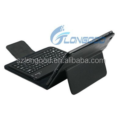 Tablet pc leather keyboard case,Bluetooth Wireless Keyboard leather case for ipad Mini