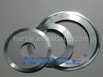 Rotary tissue knife cutting blade for paper making industry