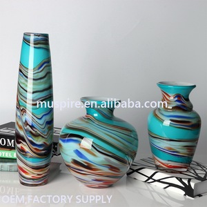 Eco-friendly professional recycled high end glass vase for flowers