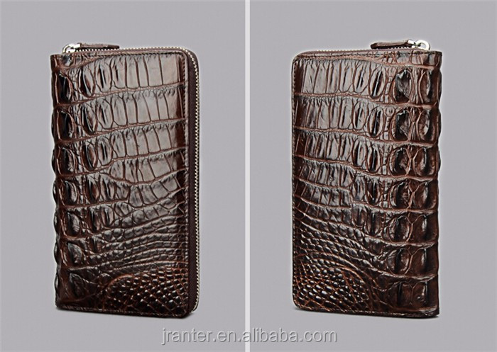 Fashion Luxury Handmade Men Business Wallet Real Crocodile leather Clutch Wallet Men_8