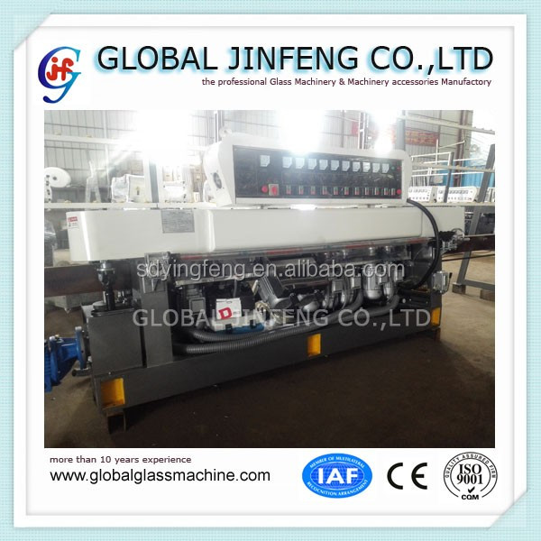 JFE10325 10 Spindles glass straight line edging and polishing machine for glass factory