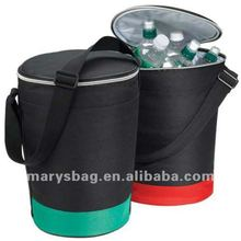600D Round Insulated Cooler with Handle and Pocket