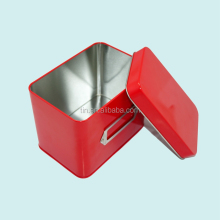 Plain rectangle tin box for gift packaging