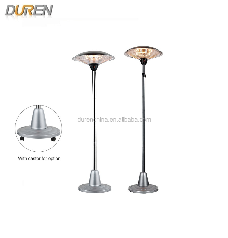 Floor Stand Outdoor Halogen Electric Patio Heater With Stainless Steel PHH  2000BS/2500BS/3000BS