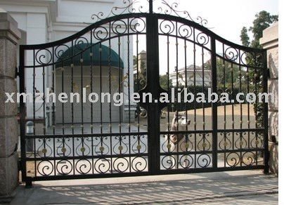 Artistic wrought iron gate