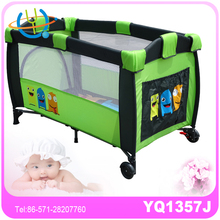 Child Travel Bed Cot Bassinet Playpen w/ Entryway Baby Portable Play Pen Blue